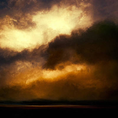 Stormy Mixed Media - Volcanic Sky by Lonnie Christopher