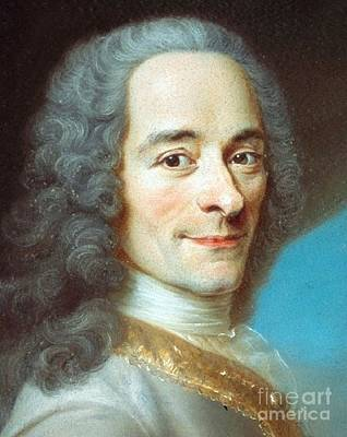Rights Of Man Painting - Voltaire by Pg Reproductions