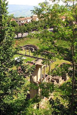 Patina Photograph - Volterra's Roman Ruins by Carla Parris