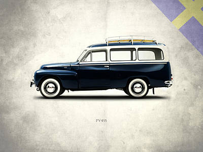 Volvo Photograph - Volvo Pv445 1958 by Mark Rogan