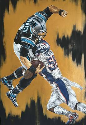 Von Miller Teaching Superman How To Fly. Print by Jimmy James