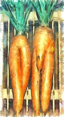Surreal Painting - Voodoo Carrots - Pa by Leonardo Digenio