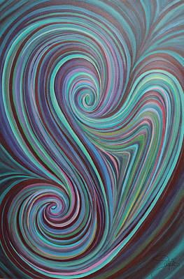 Vortex Of E-motion Print by Salpie Kaloussian
