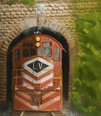 Railroad Painting - Vosburg Tunnel by Christopher Jenkins