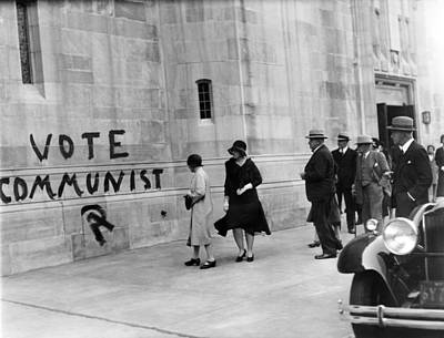 Vote Communist Is Painted On The Church Print by Everett
