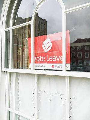 Voted Photograph - Vote Leave by Tom Gowanlock