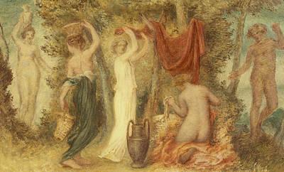 Votive Painting - Votive Offerings   Classical Scene by Edward Calvert