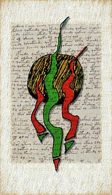 Viper Drawing - Voynich Vipers II by John Pullicino