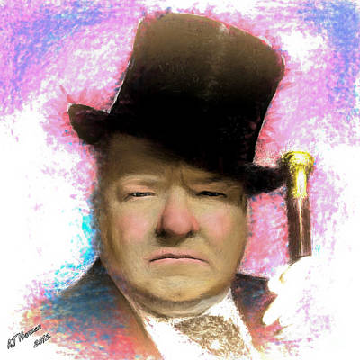 W C Fields Print by Arne Hansen