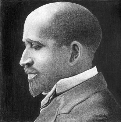 W E B Du Bois Print by Curtis Maultsby