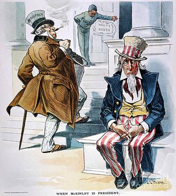 W. Mckinley Cartoon, 1896 Print by Granger