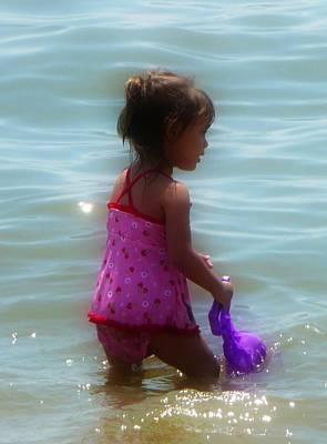 Wading Child Print by Lori Seaman