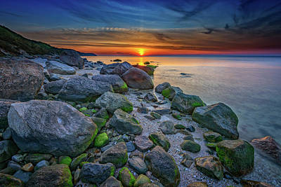 Wading River Sunset Print by Rick Berk