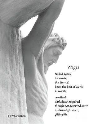 Wages Print by Ann Horn