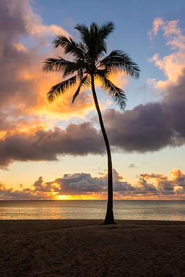 Water Photograph - Waimea Beach Sunset 2 - Oahu Hawaii by Brian Harig