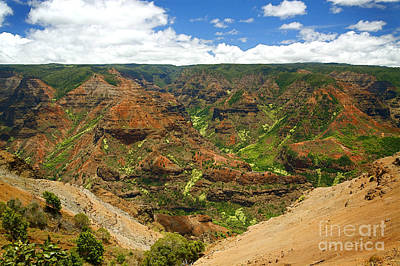 Waimea Canyon And Blue Sky Print by Kicka Witte - Printscapes