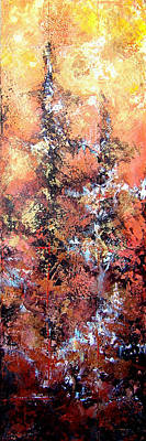 Copper Painting - Wait For Sleep by Shadia Derbyshire