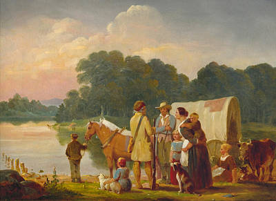 William Ranney Painting - Waiting For The Ferry by William Ranney