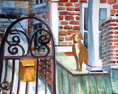 Waiting For The Mail Original by Mindy Newman