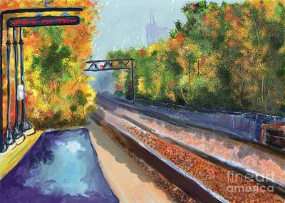Waiting For The Train Print by Barb Kirpluk