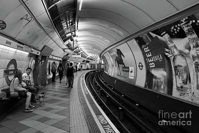 London Tube Mixed Media - Waiting For Train by Svetlana Sewell