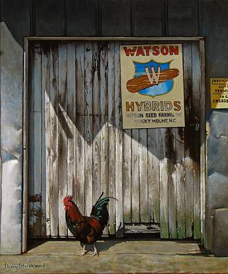 Shed Painting - Waiting For Watson by Doug Strickland