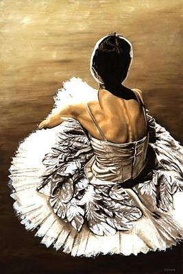 Ballerina Painting - Waiting In The Wings by Richard Young