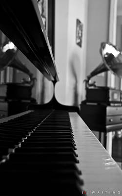 Piano Photograph - Waiting by Jonathan Ellis Keys