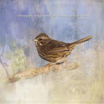 Jordan Painting - Waiting To Happen - Bird Art by Jordan Blackstone