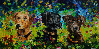 Chocolate Labrador Retriever Painting - Waiting To Hunt by Kevin Brown