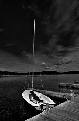 Waiting To Sail On Fourth Lake Print by David Patterson