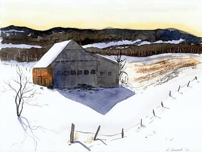 Waitsfield Barn Original by Amanda Amend