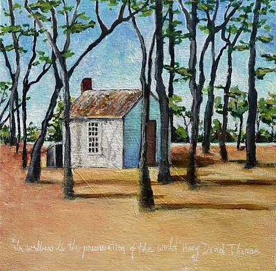 Thoreaus Cabin Painting - Walden Pond by Deanna White