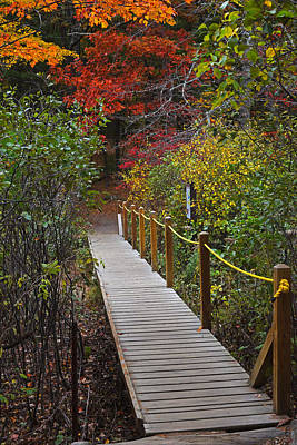 Walden Pond Photograph - Walden Pond Footbridge Concord Ma by Toby McGuire