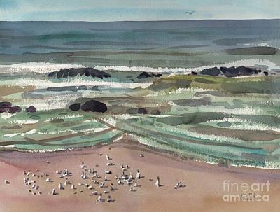 Waldport Surf Original by Donald Maier
