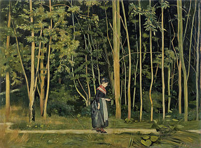 Ferdinand Hodler Painting - Walk Along The Border Of A Wood by Ferdinand Hodler