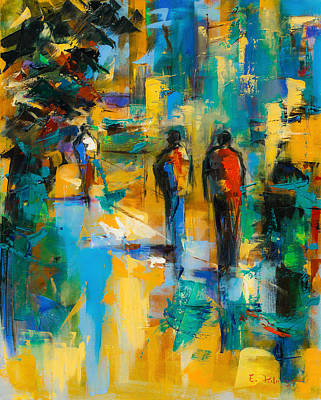 Fauvist Painting - Walk In The City by Elise Palmigiani