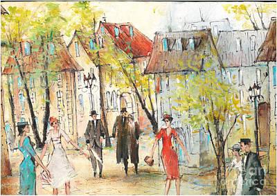 Painting - Walk by Oleg Poberezhnyi