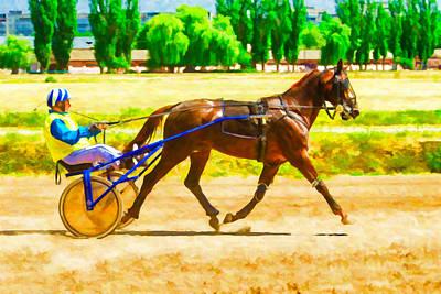 Racetrack Digital Art - Walk On The Racetrack by Serhii Simonov