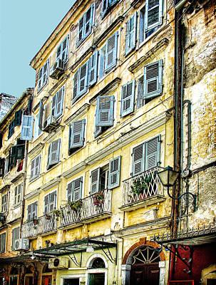 Old Town Digital Art - Walk Through Corfu by Julie Palencia