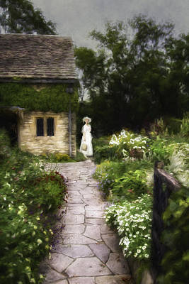 Monet Lady Photograph - Walk Through The Garden by Jackie Sajewski