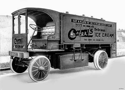 Truck Drawing - Walker by Lyle Brown