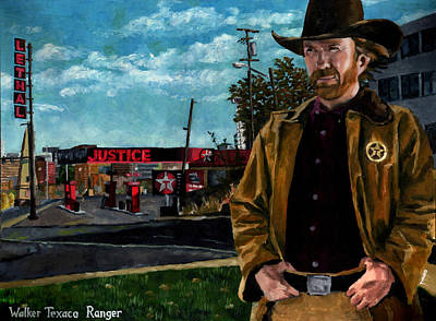 Gas Station Painting - Walker Texaco Ranger by Thomas Weeks