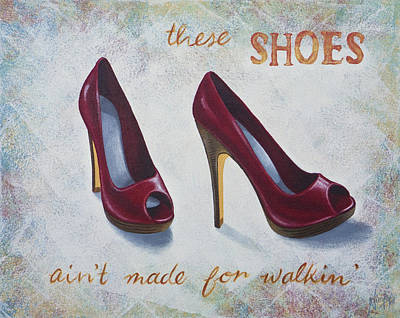 Walkin' Shoes Print by Nicola Hill