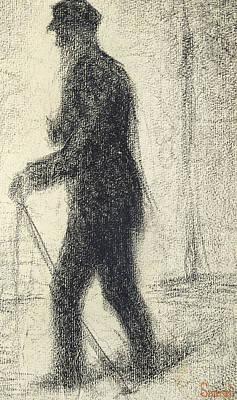 Walking Print by Georges Pierre Seurat
