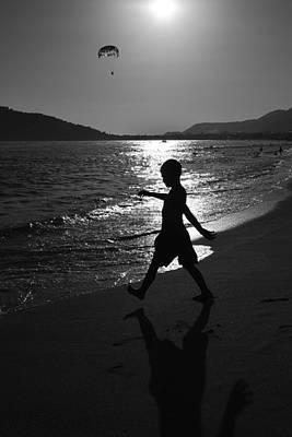 Digital Art - Walking On The Beach by Toppart Sweden