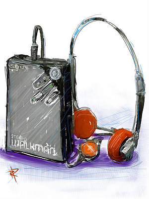 Walkman Print by Russell Pierce