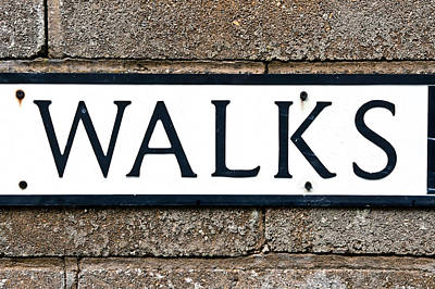 Abstract Movement Photograph - Walks Sign by Tom Gowanlock