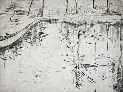 Walkway   Kew Gardens Print by Calum McClure