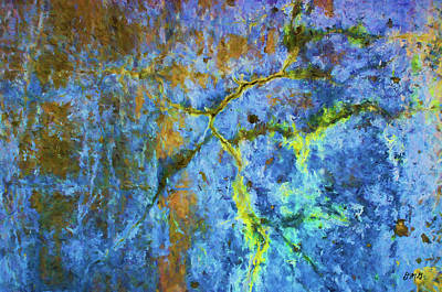 Wall Abstraction I Print by Dave Gordon
